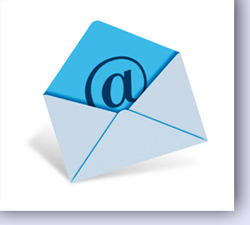 an e-mail letter that has a @ sign on it